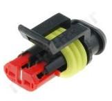2-polige AMP superseal stekker + kabel 10 cm