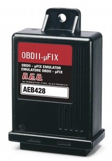 OBD emulator with CAN standard, Emulates the signal of Oxygen sensors during Gas operation in order to prevent the activation of the Check Engine light due to carburetion anomalies detected by the petrol CPU.