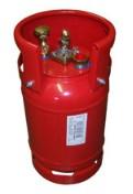 Rode LPG-fles 12L+knie D.230xH.440