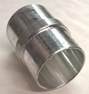 Pijp voor stofzuigerslang - aluminium