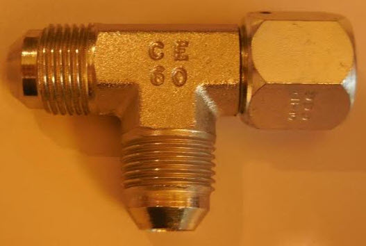 T-vulslang met wartel - met zijdelingse wartel