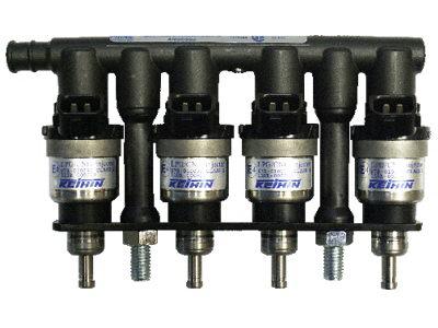 Injectorrail 4-cilinder 63cc/oranje KN8 Prins