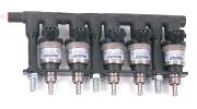 Injectorrail 5-cilinder 73 cc/geel KN8 Prins