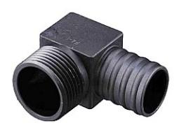 Impco gasuitgang EB/425 90° kunststof (1NPT x Ø25mm)