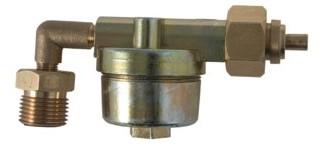 Filter motorhome haaks voor op fles