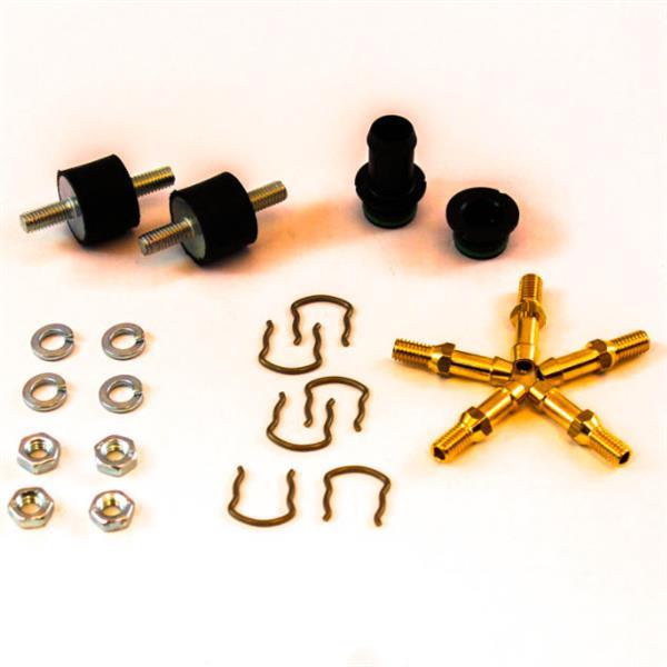 Zakje met toebehoren voor 4 cil. rail Polymer AEB met nozzles in combinatie met PT-MAP voor gasslang Ø 12mm