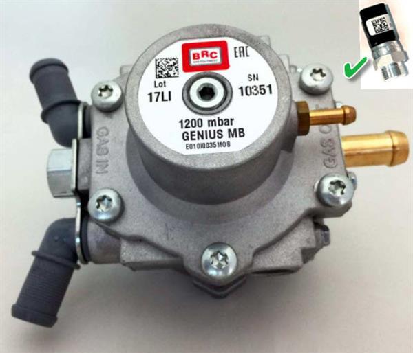 BRC verdamper Genius MB1200 + sensor MY07 D12