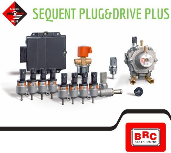 Motorkit BRC Plug&Drive 8 cyl. + yellow injectors + 2x MB1500