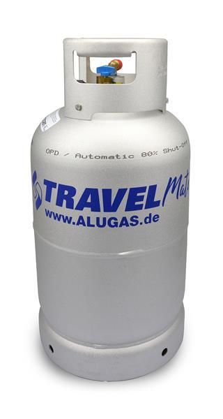 LPG-fles Alugas 14kg-33,3Ltr. Duits model (blauwe kraan)