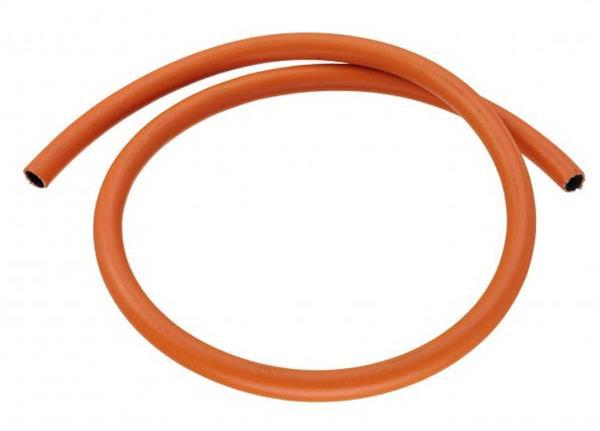 Oranje gasslang 1 meter voor gasfles (8x15)