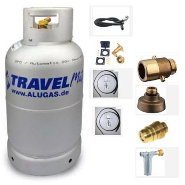 Complete kit LPG fles Alugas 27L voor campervan