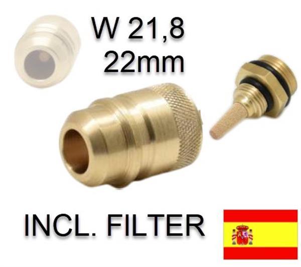 Vulnippel Euronozzle voor Spanje incl. filter