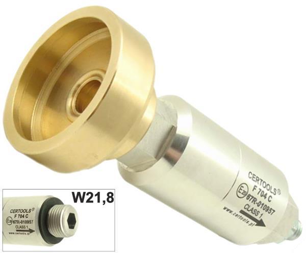 Hogedruk Filter met vulnippel Italië/Frankrijk, aansluiting W21.8