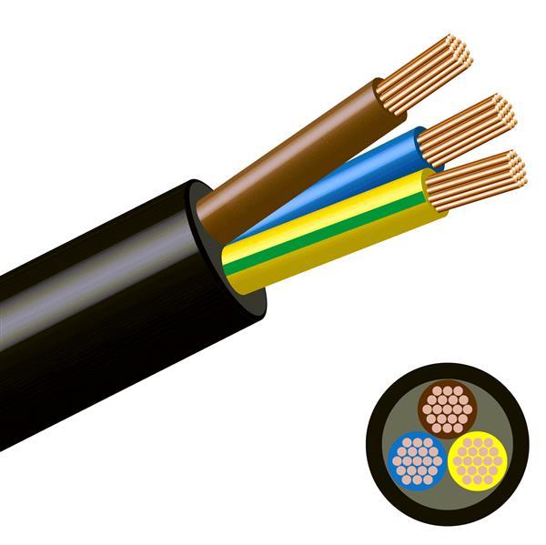 Elektrische 3-draad (3x0.75 mm) 100 meter