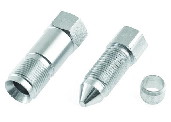 CNG set koppelingen voor kraan M12x1 voor 6mm