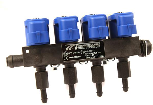 Tomasetto LPG/CNG 4 cylinder injector rail