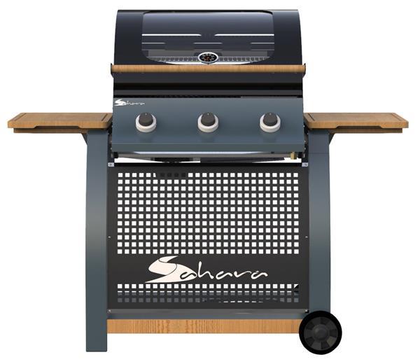 Gasbarbecue Eik BBQ 3-pits met 10 jaar garantie