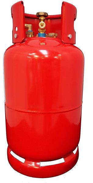 Rode fles 36L met aansluiting voor vulslang