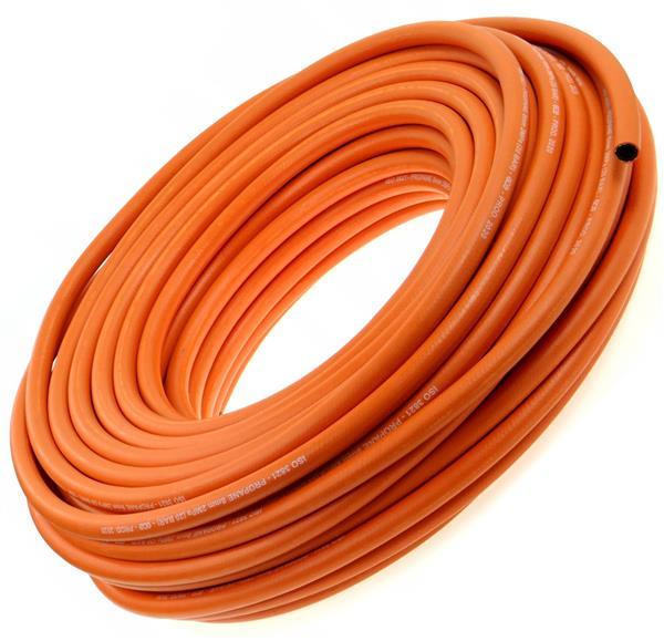 Gasslang voor motorhomes, 8 mm, oranje, 20 mtr.