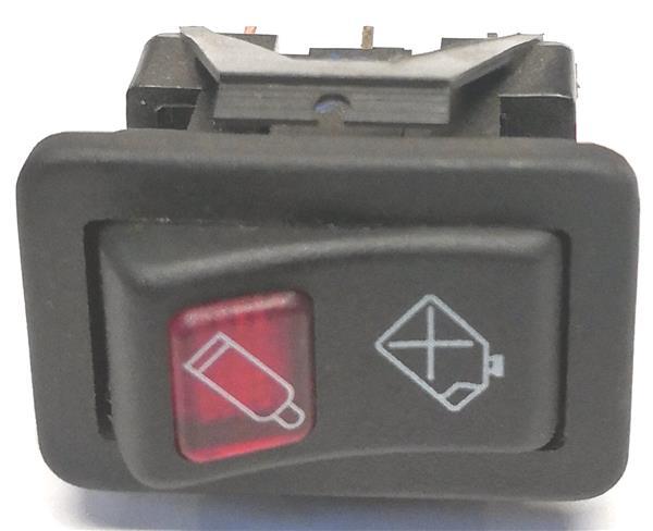 Schakelaar 2 posities met rood lampje