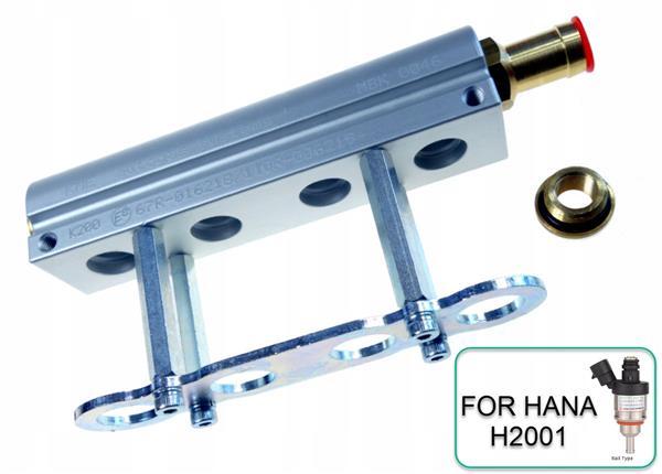 Hana rail 4 cil. Verdeelblok aluminium