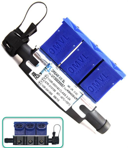 OMVL Injector Rail SL 3cyl zonder temperatuursensor