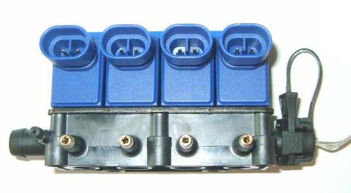 Injector Rail OMVL SL 4cyl met temperatuursensor