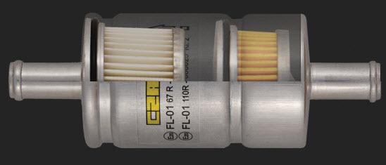 Drooggasfilter 11-11 met dubbele cartridge voor dubbele filtratie