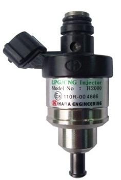 Hana Injector H2001 type C zwart (20-34 HP/cyl.) (komt overeen met Keihin blauw) voor montage op rail