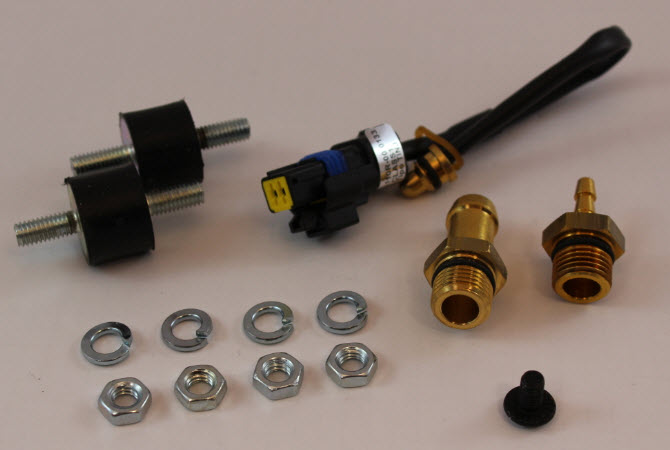 Montagezakje tbv AEB 3 cilinder rail, incl. temperatuursensor, voor gasslang diam. 12 mm, voor gebruik met MAP-sensor AEB025