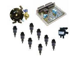 Motorkit Prins VSI-2 8 cyl. compleet met slangen / Flexibele leiding Prins XD-4 6mtr / inj. type:82cc (387/08821514/B)