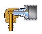 OMB Anschlussst. 90° 8 mm Entn. 4-Lochtank für Plastikleitung