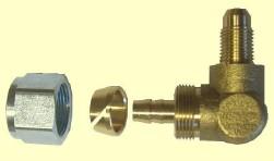 OMB Anschlussst. gerade 8 mm / M 10 Gewinde für Plastikl. 90°