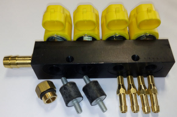 Valtek injector 1 Ohm - 4 Cil. - geel